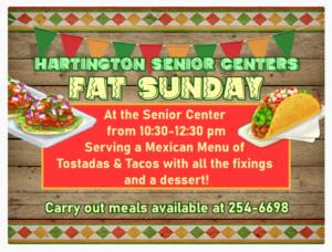 Hartington Senior Center Fat Sunday @ Hartington Senior Center